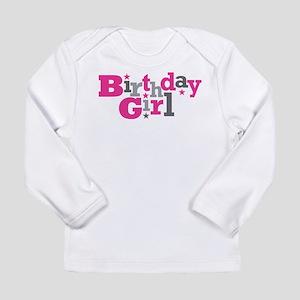 Pink Birthday Girl Star Long Sleeve Infant T-Shirt