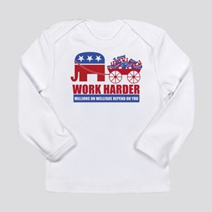Work Harder Long Sleeve Infant T-Shirt