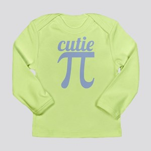 Cutie Pi Blue Long Sleeve Infant T-Shirt