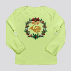 Christmas French Horn Long Sleeve Infant T-Shirt