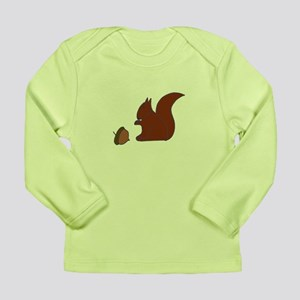 Squirell with Nut Long Sleeve Infant T-Shirt