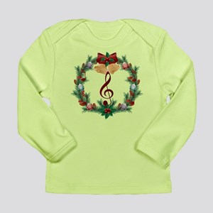 Treble Christmas Music Long Sleeve Infant T-Shirt