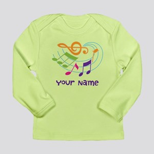 Personalized Music Swirl Long Sleeve Infant T-Shir