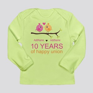 10th Anniversary Person Long Sleeve Infant T-Shirt