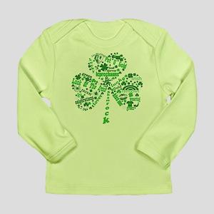 St Paddys Day Shamrock Long Sleeve Infant T-Shirt