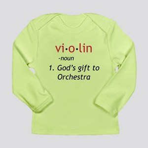 Definition of a Violin Long Sleeve Infant T-Shirt