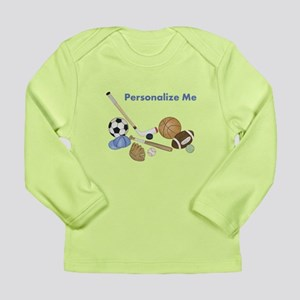 Personalized Sports Long Sleeve Infant T-Shirt
