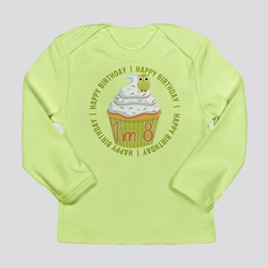 8th Birthday Cupcake Long Sleeve Infant T-Shirt
