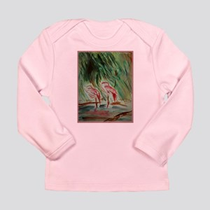 Flamingos, bird, wildlife art! Long Sleeve T-Shirt