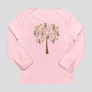 Music Treble Clef Tree Gift Long Sleeve Infant T-S
