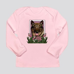 Mothers Day Pink Tulips Vallhund Long Sleeve Infan