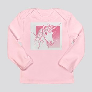 1 Pink Unicorn Long Sleeve Infant T-Shirt