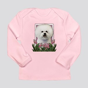 Mothers Day Pink Tulips Bichon Long Sleeve Infant