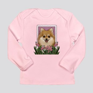 Mothers Day Pink Tulips Pom Long Sleeve Infant T-S