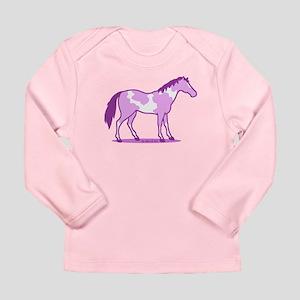 Purple Horse Long Sleeve T-Shirt