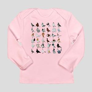 36 Pigeon Breeds Infant Long Sleeve T-Shirt