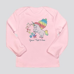 Unicorn Rainbow Star Long Sleeve Infant T-Shirt