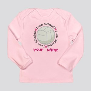 Personalized Volleyball Long Sleeve Infant T-Shirt