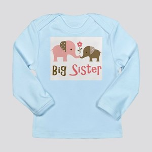 Big Sister - Mod Elephant Long Sleeve Infant T-Shi