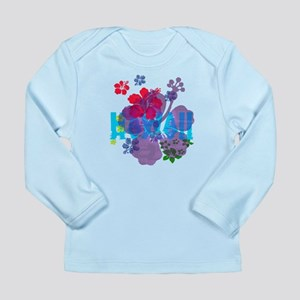 Hawaii Hibiscus Long Sleeve Infant T-Shirt
