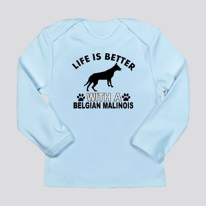 Belgian Malinois vector designs Long Sleeve Infant