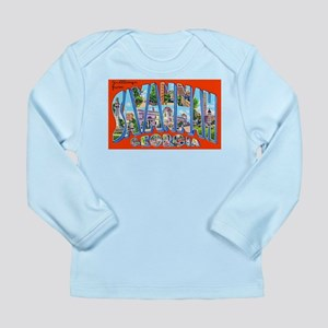 Savannah Georgia Greetings Long Sleeve Infant T-Sh