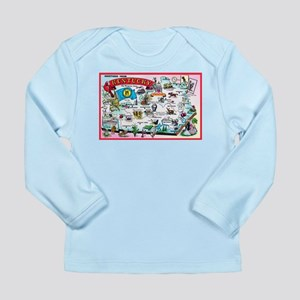 Kentucky Map Greetings Long Sleeve Infant T-Shirt