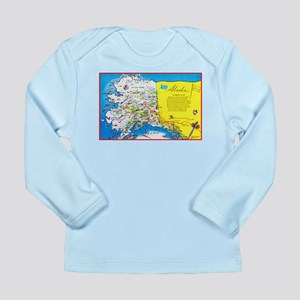 Alaska Map Greetings Long Sleeve Infant T-Shirt