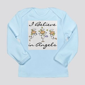 I Believe in Angels Long Sleeve Infant T-Shirt