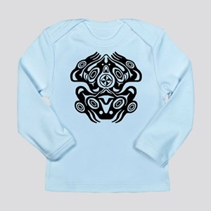 Frog Native American Design Long Sleeve Infant T-S