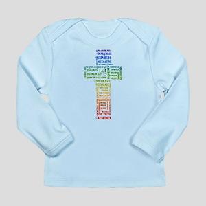 Names of Jesus Cross Long Sleeve Infant T-Shirt