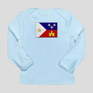 Flag of Acadiana Long Sleeve Infant T-Shirt