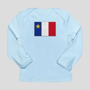 Flag of Acadia Long Sleeve Infant T-Shirt