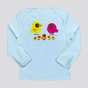 """birds + 5 birdies"" Long Sleeve Infant T-Shirt"