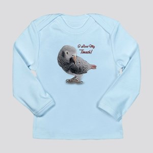 African Grey Parrot Holiday Long Sleeve Infant T-S