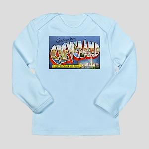Cleveland Ohio Greetings Long Sleeve Infant T-Shir