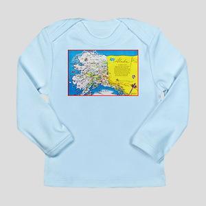 Alaska Map Greetings Long Sleeve Infant T-Shirt