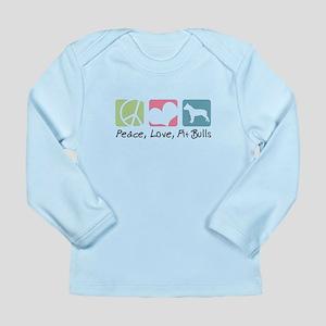 Peace, Love, Pit Bulls Long Sleeve Infant T-Shirt