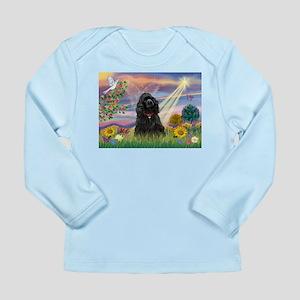 Cloud Angel/Black Cocker Long Sleeve Infant T-Shir