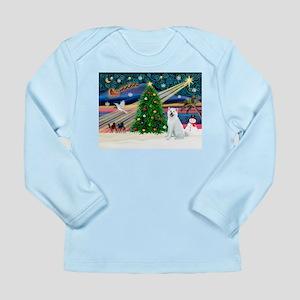 Xmas Magic & Akita Long Sleeve Infant T-Shirt