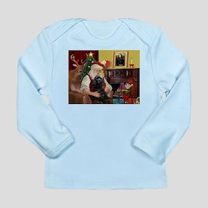 Santa's Black Cocker Long Sleeve Infant T-Shirt