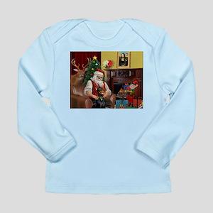 Santa's Dobie (Bz) Long Sleeve Infant T-Shirt