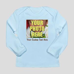 Custom Photo and Text Long Sleeve Infant T-Shirt