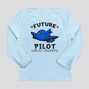 Pilot Like Grandpa Long Sleeve Infant T-Shirt
