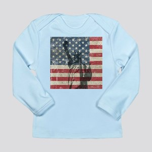 Vintage Statue Of Liberty Long Sleeve Infant T-Shi