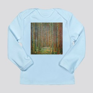 Gustav Klimt Pine Forest Long Sleeve Infant T-Shir