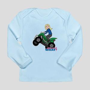 ATV Woman Blonde Long Sleeve Infant T-Shirt