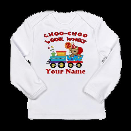 2nd Birthday Train Long Sleeve Infant T Shirt By CupcakesandSprinklesBirthdayTees
