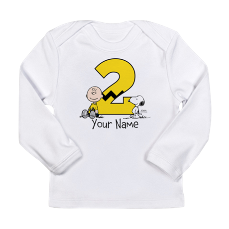Peanuts Personalized 2nd Birthday Long Sleeve T-Sh