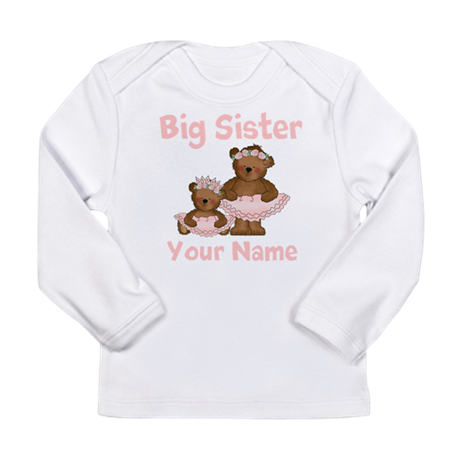 Big Sister Ballet Personalized Long Sleeve Infant